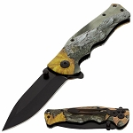 Spring Assisted Open Pocket Knife Outdoor Camo
