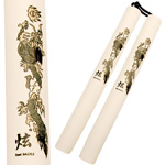 Nunchaku - Foam Covered Corded White Dragon Nunchucks