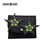 4MM Thick Green ParaCord Throwing Stars 2 Piece Set