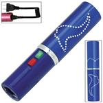 Electrika Lipstick 2.5 Million Volt Stun Gun Blue - 100 Lumen LED Flashlight