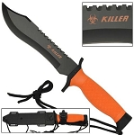 12 Inches Orange Survival Bowie Fixed Blade Knife