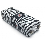 Zebra Print MAX POWER Rechargeable Mini Stun Gun With LED Light