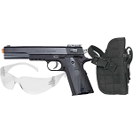 Colt 1911 Spring Airsoft Pistol Kit, Includes Holster and Safety Glasses