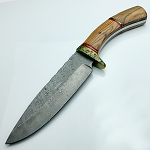 Full Tang Damascus Custom Hand Made Hunting Knife 14