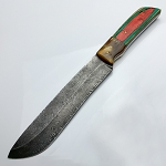 Damascus Steel Custom Hand Made Fixed Blade Hunter Knife 12