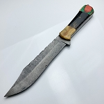 Damascus Steel Custom Hand Made Fixed Blade Hunting Knife 12