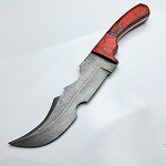 Custom Hand Made Damascus Steel Fixed Blade Knife 12