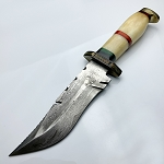 Damascus Steel Custom Handmade Fixed Blade Hunting Knife 13