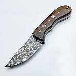 Damascus Steel Custom Hand Made Fixed Blade Hunting Knife