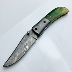 9 Inch Damascus Steel Custom Hand Made Pocket Folding Knife