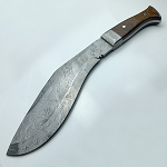 Gurkha Kukri Knife Handmade High Carbon Damascus Steel Machete