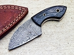 Damascus Steel Custom Handmade Hunting Mini Skinning Sheepsfoot Knife 5.5