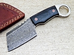 Custom Handmade Damascus Steel Skinning Sheepsfoot Knife 7