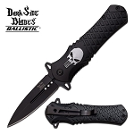Dark Side Blades 4.5 Inches Closed Folder With Black Aluminum Handle