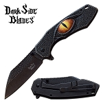 Dragon Eye Stonewash Scale Blade Spring Assist Folding Knife