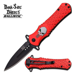 Red Stiletto Style Punisher Spring Assist Knife
