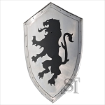 Rampant Lion Bravery Medieval 16 Gauge Steel Battle Shield