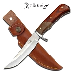 Elk Ridge Wooden handle hunting knife with Sheath
