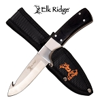 Elk Ridge Pakkawood Guthook Hunting Knife Fixed Blade Full Tang 440