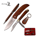 Elk Ridge Gift Set Folder, Trapper, Pen And Keyring