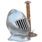 English Knights Combat Close Helmet With Stand - 16 Guage