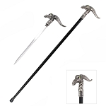 Green Eyed Dragon Gentleman's Walking Cane Sword
