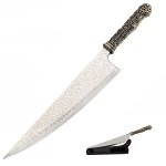Alice 18 Inch Steel Vorpal Blade Replica Knife With Table Top Stand