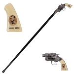 Jesse James Revolver Gun Handle Gentleman's Walking Stick