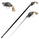 Wyatt Earp Revolver Gun Handle Sword Cane