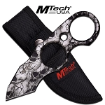Skull Full Tang Finger Ring Tactical Tanto Fixed Blade Knife