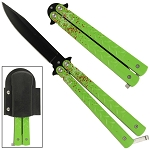 Bio-Hazard Crime Scene Butterfly Knife
