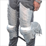 German Gothic Leg Armour - 16 Gauge