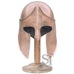 Spartan King Helmet Roman Greek Functional Helm - 16 Gauge