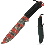 Cursed Souls Full Tang Zombie Hunting Fixed Blade Wilderness Survival Knife