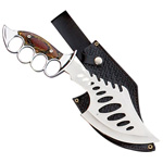 Big Blade Bowie Knuckle Handle Knife