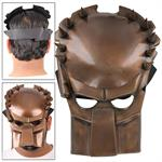 Fantasy Predator Warrior Copper Movie Battle Cosplay Mask