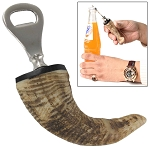 Natural Ram Horn Novelty Bottle Opener
