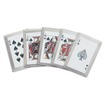 Casino Royal Flush Throwing Card Set Knife Throwers