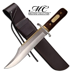 17.25 Inches Long Fixed Blade Premium Bowie Hunting Knife With Sheath