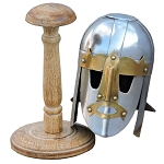 Mini Sutton Hoo Viking Helmet With Display Stand