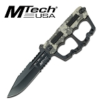 10.5 Inch Mtech USA Fixed Blade Digital Camo Knuckle Handle Knife