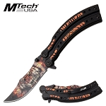 Mtech Pocket Knife Spring Assisted Knife Crouching Tiger Blade
