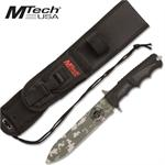 Fixed Blade Tactical Survival Knife Green Digital Camo Hunting Camping Knife