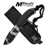 Tactical 5MM Thick Urban Camo Blade Hunting Knife With Custom Sheath