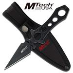 Mtech Skull Double Edge Dagger Fixed Blade Boot Knife With Sheath