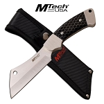 Mtech USA C-Tek Cleaver Fixed Blade Hunting Knife Black