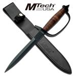 MTech Military Combat Leather Handled Trench Knife