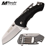 5 Inch Assisted Opening Pocket Knife Bottle Opener Aluminum Handle Black