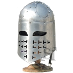 Medieval Knight Templar Helmet Crusader Armor Helm With Stand