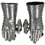 Medieval Flared Cuff Gauntlets Metal Glove Plate Armour 18G Steel